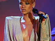 Rihanna showing nice ebony breasts