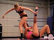 Blue Angel lezdom in girls catfight