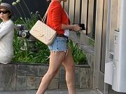 Hilary Duff exposing her sexy legs