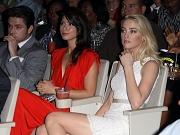 Amber Heard leggy in white dress