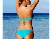 Kate Upton in bikini at the beach