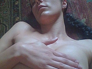 Adrianne Curry shooting her breasts