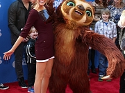 Blake Lively leggy in mini dress