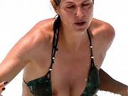 Busty Heidi Klum bikini nipple slip