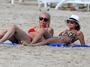 Nicole Richie wearing a sexy bikini