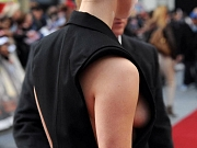 Rebecca Hall nipple slip in London