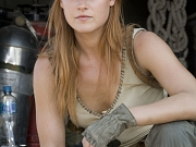 Hot Ali Larter in military outfit