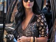Katy Perry showing huge cleavage