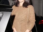 Olivia Munn braless in see thru top