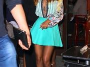 Rihanna braless in wide open shirt