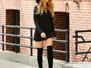 Blake Lively leggy in New York City