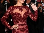 Cheryl Cole busty in a c-thru dress