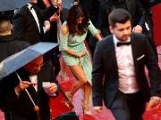 Eva Longoria upskirt in Cannes