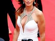 Cindy Crawford shows huge cleavage
