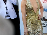 Jennifer Lopez shows huge cleavage