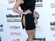 Kesha pantyless in a slit dress