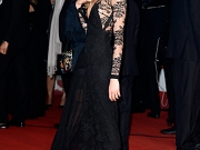 Cara Delevigne nip slip in Cannes