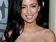 Christian Serratos showing cleavage