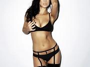 Busty Rosie Jones topless & petting