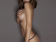 Emily Shaw stripping her lingerie