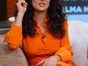 Salma Hayek upskirt flashing pussy
