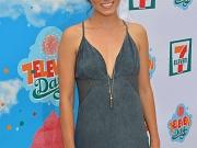Nikki Reed braless shows cleavage