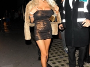 Courtney Stodden nip slip & upskirt while leaving a club in London