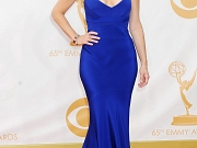 Tina Fey cleavy wearing a low cut dress at the 65th annual Primetime Emmy Awards