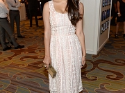 Hannah Simone showing cleavage at the event in LA