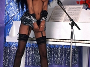 Ebony Songstress Performs Nude Hairy With Stockings