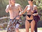 Celebnakedness lara bingle topless on the beach big boobs