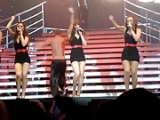 Girls Aloud Performing In Tight Dresses
