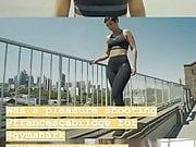 Frankie Bridge rooftop photshot for Gym Shark