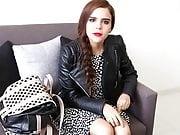 Yuya with Leather Jacket and Heels