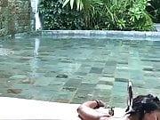 Salma Hayek showering