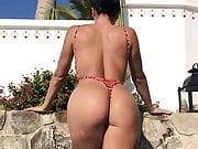 Ana Cheri is wearing her g-string swimwear