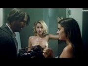 Ana de Armas, Lorenza Izzo - Seducing a older man, Lesbian. Teen girl with