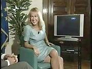 European TV show double crossed legs